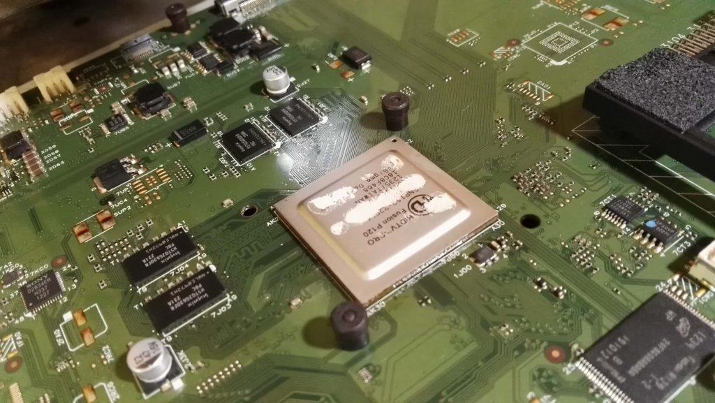 Паянный BGA процессор