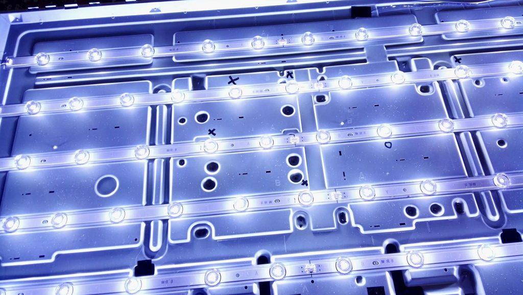 Включенная светодиодная подсветка