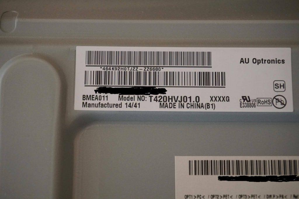 AU Optronics T420HVJ01.0