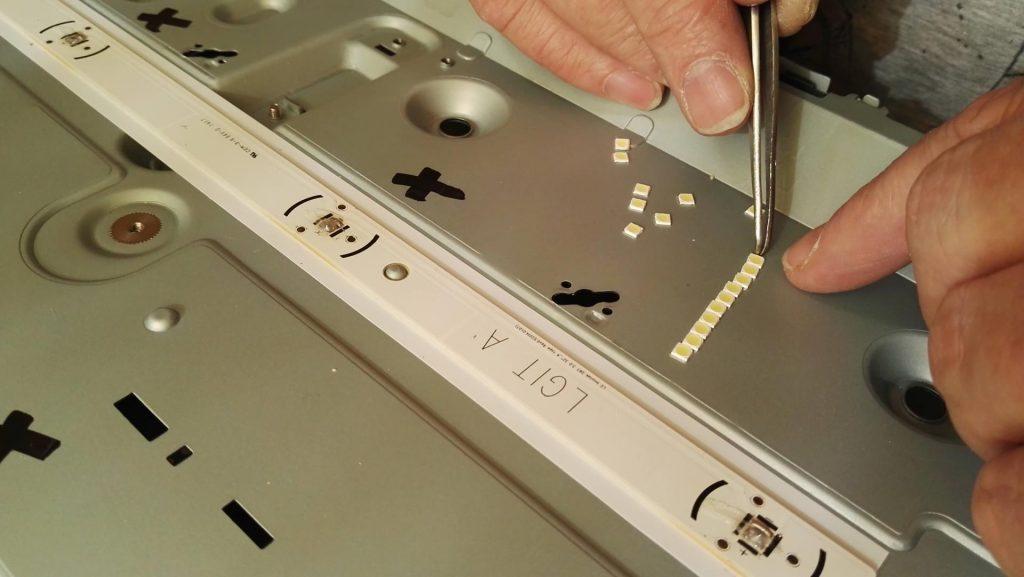 Ремонт подсветки телевизора LG