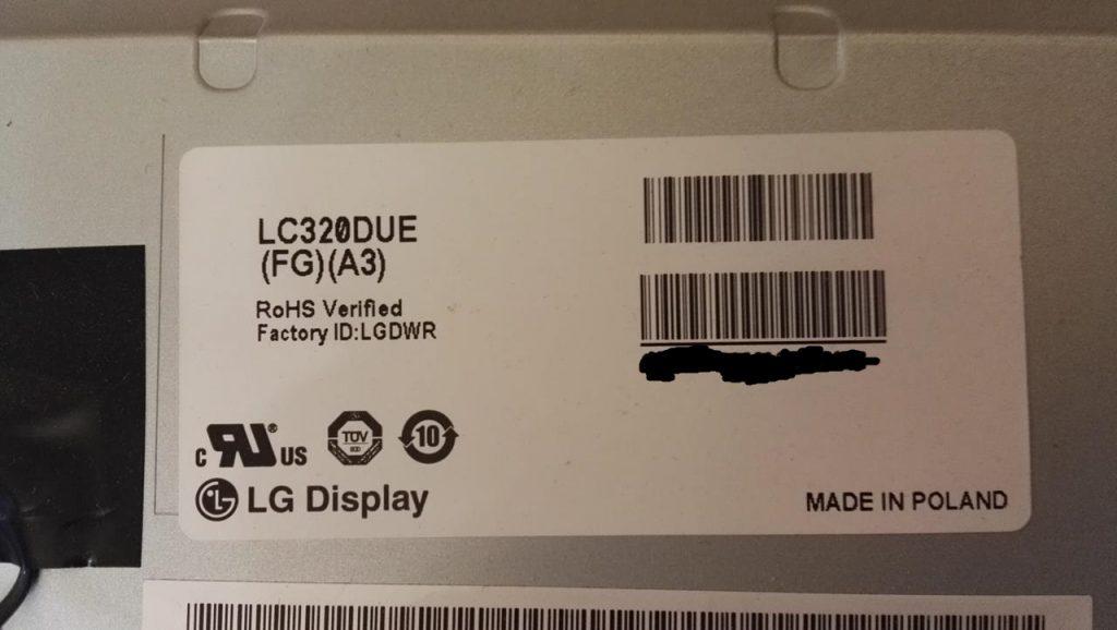 Ремонт подсветки телевизора LG 32LB552U