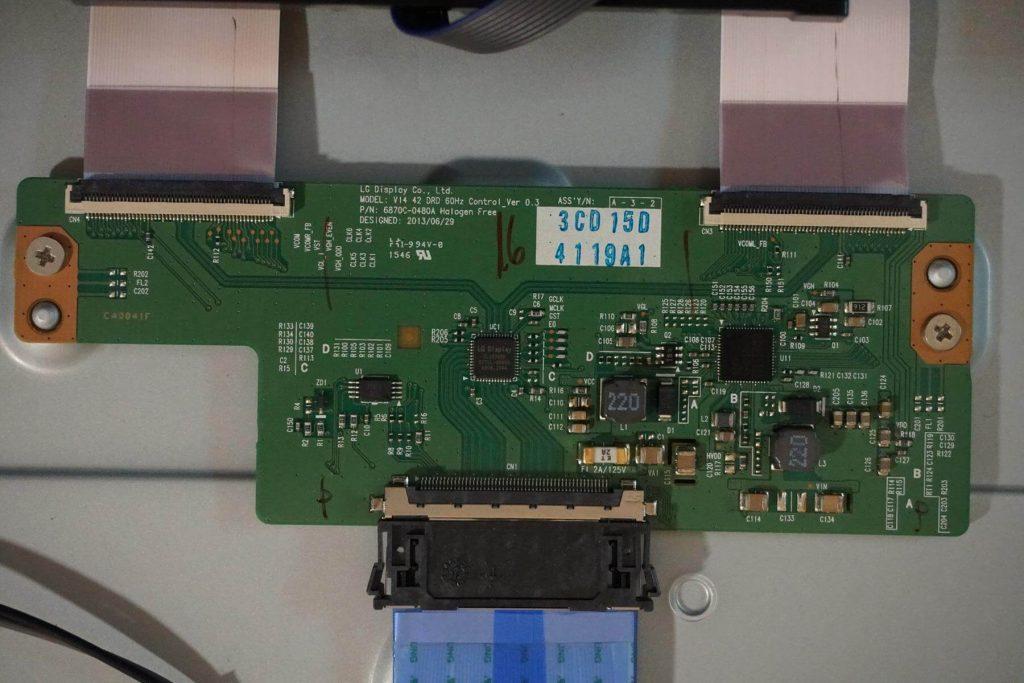 Плата T-CON 6870C-0480A V14 42 DRD 60HZ CONTROL_VER 0.3.