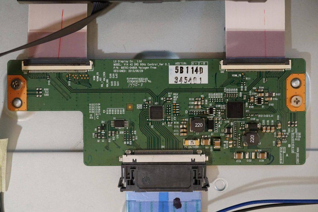 Плата T-CON 6870C-0480A V14 42 DRD 60HZ CONTROL_VER 0.3